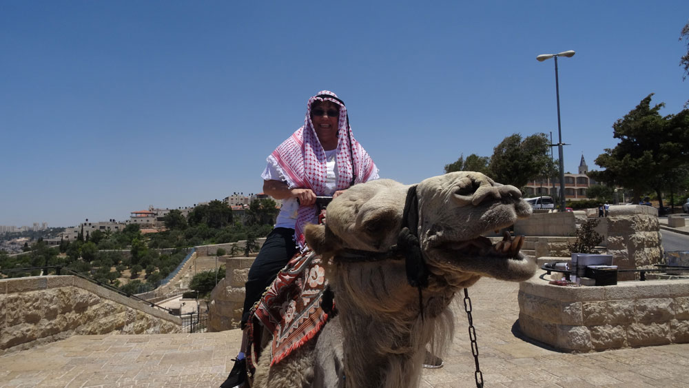 Riding a camel in Israel 2015