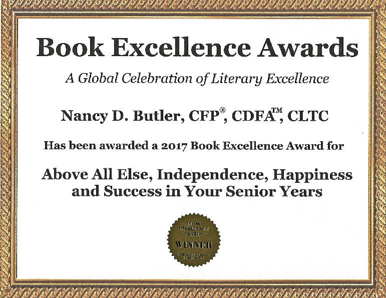 Book Excellence Award for Nancy D. Butler