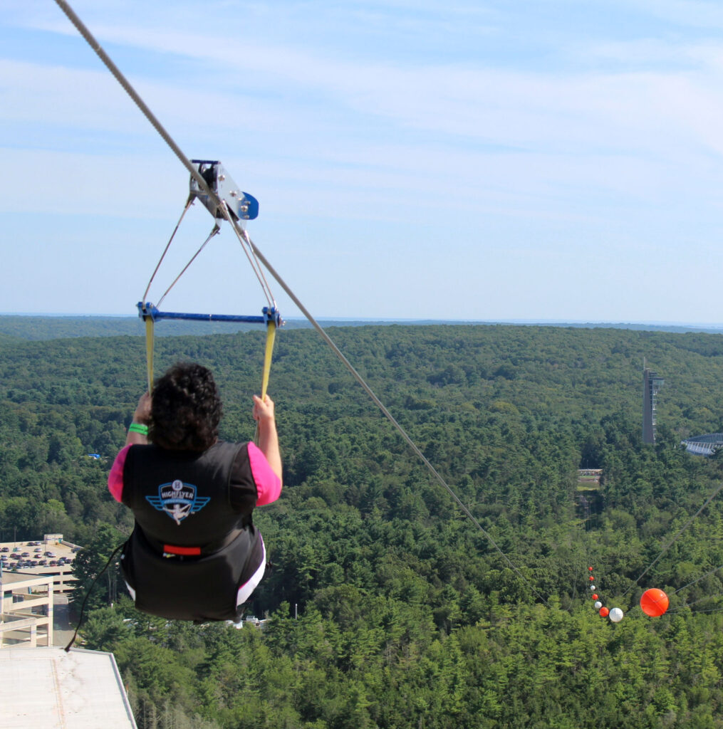 Mile Long Zip LIne — 350ft off the ground